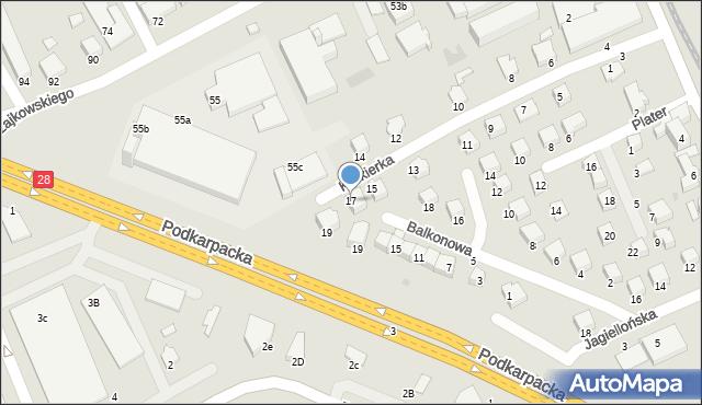 Krosno, Krukierka Jędrzeja, 17, mapa Krosna