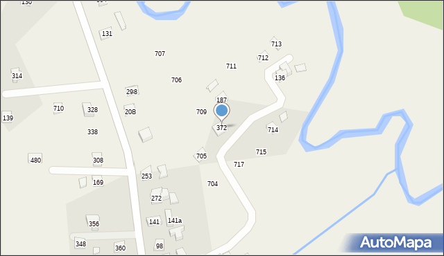 Krzywaczka, Krzywaczka, 372, mapa Krzywaczka