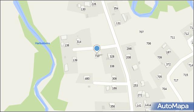 Krzywaczka, Krzywaczka, 710, mapa Krzywaczka