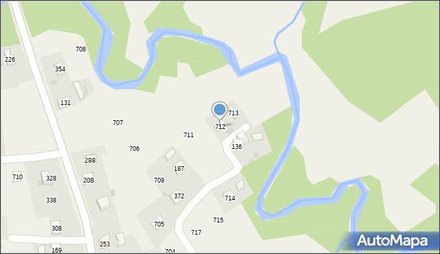 Krzywaczka, Krzywaczka, 712, mapa Krzywaczka