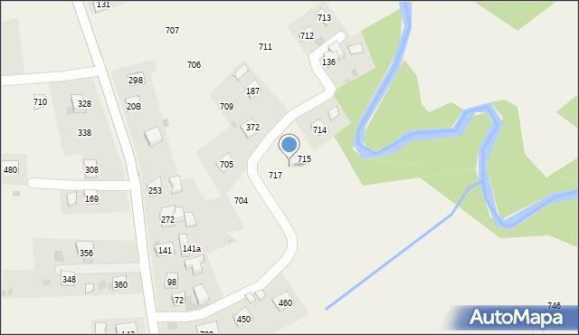 Krzywaczka, Krzywaczka, 716, mapa Krzywaczka