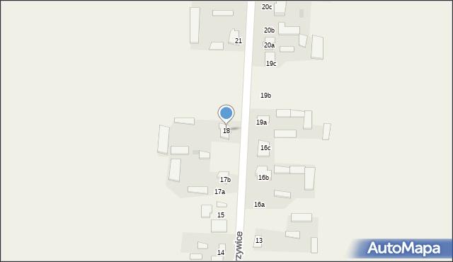 Krzywice, Krzywice, 18, mapa Krzywice