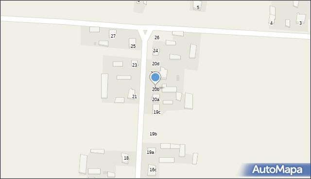 Krzywice, Krzywice, 20b, mapa Krzywice