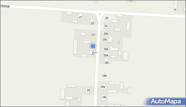 Krzywice, Krzywice, 21, mapa Krzywice
