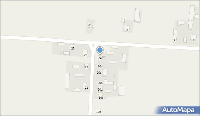 Krzywice, Krzywice, 24, mapa Krzywice