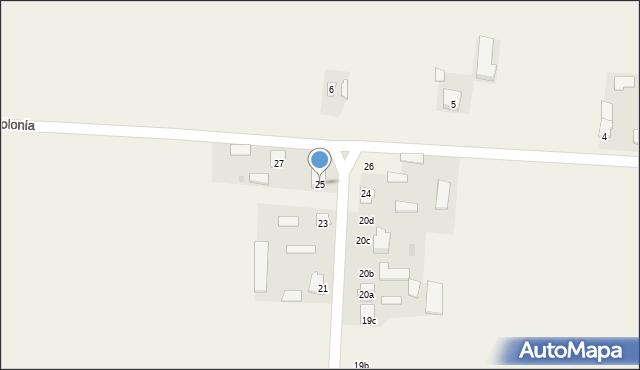 Krzywice, Krzywice, 25, mapa Krzywice