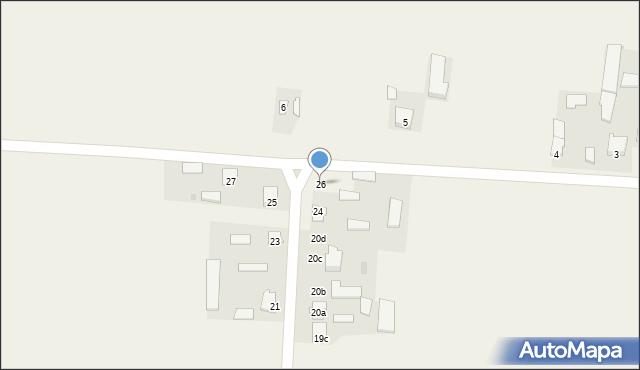 Krzywice, Krzywice, 26, mapa Krzywice
