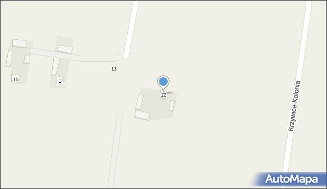 Krzywice-Kolonia, Krzywice-Kolonia, 12, mapa Krzywice-Kolonia