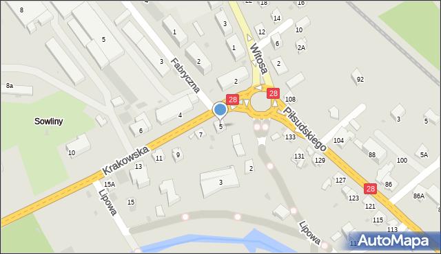 Limanowa, Krakowska, 3, mapa Limanowa