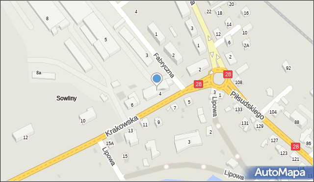 Limanowa, Krakowska, 4A, mapa Limanowa