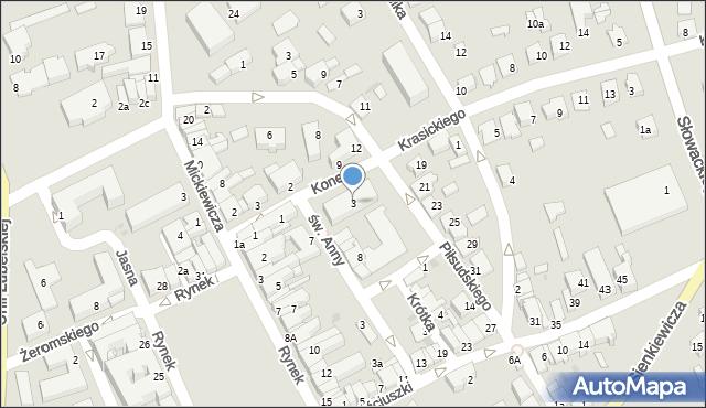Lubaczów, Krasickiego Ignacego, bp., 3, mapa Lubaczów