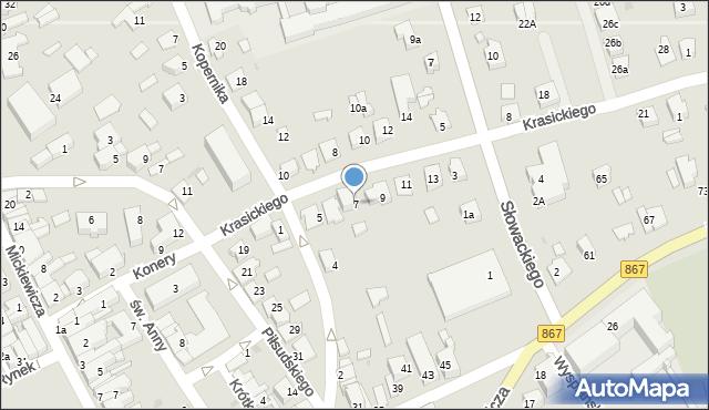 Lubaczów, Krasickiego Ignacego, bp., 7, mapa Lubaczów