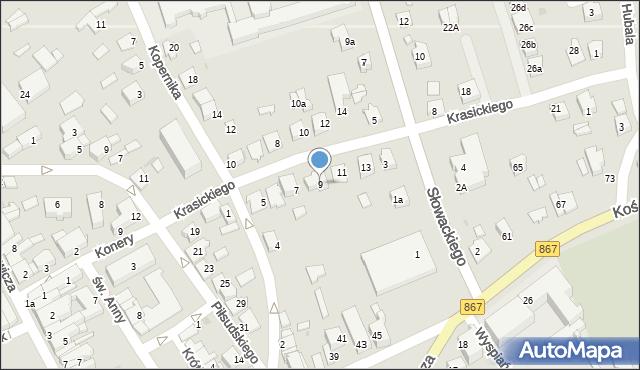 Lubaczów, Krasickiego Ignacego, bp., 9, mapa Lubaczów