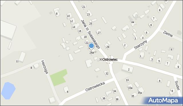 Lubaczów, Króla Jana III Sobieskiego, 24a, mapa Lubaczów