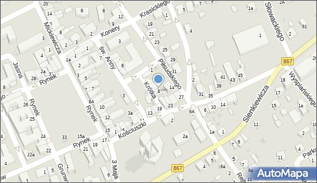 Lubaczów, Krótka, 4, mapa Lubaczów