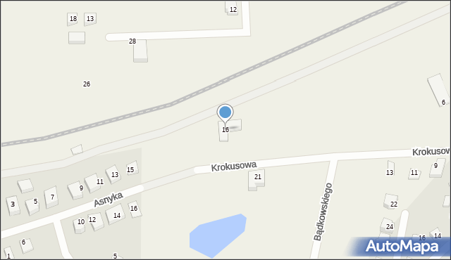 Luzino, Krokusowa, 16, mapa Luzino