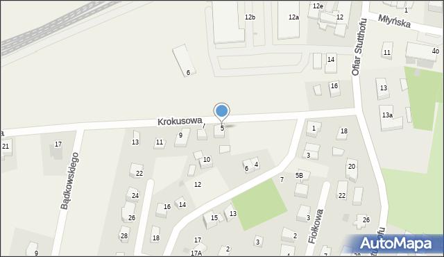 Luzino, Krokusowa, 5, mapa Luzino