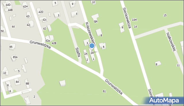 Marki, Kraszewskiego Józefa Ignacego, 1A, mapa Marki