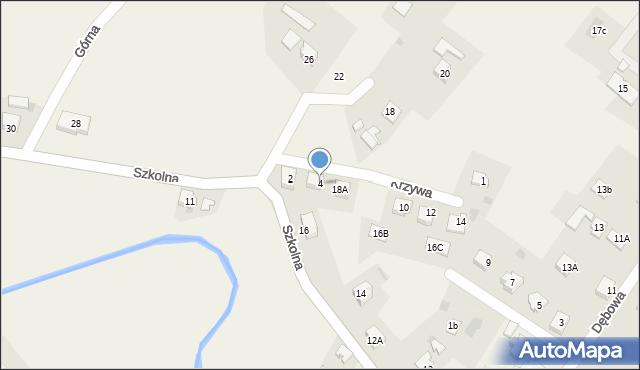 Marklowice Górne, Krzywa, 4, mapa Marklowice Górne