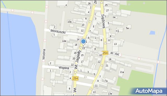 Mogilno, Króla Władysława Jagiełły, 13, mapa Mogilno