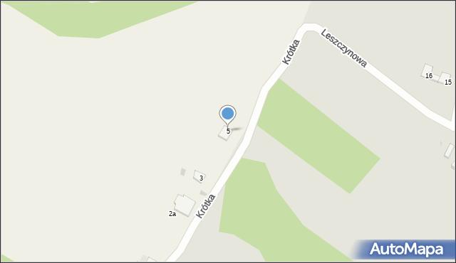Nowa Wieś, Krótka, 5, mapa Nowa Wieś