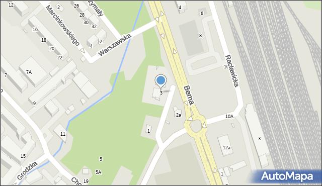 Nysa, Kraszewskiego Józefa Ignacego, 3, mapa Nysy