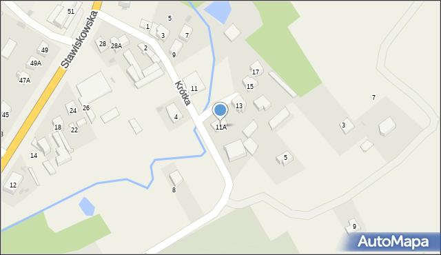 Piątnica Poduchowna, Krótka, 11A, mapa Piątnica Poduchowna