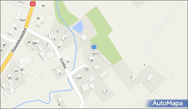 Piątnica Poduchowna, Krótka, 17, mapa Piątnica Poduchowna