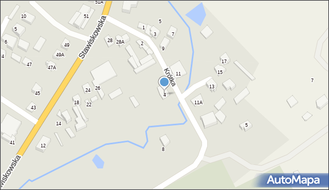 Piątnica Poduchowna, Krótka, 4, mapa Piątnica Poduchowna