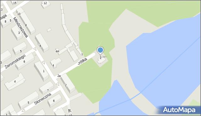 Poniatowa, Krótka, 2, mapa Poniatowa