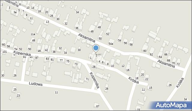 Poręba, Krótka, 2, mapa Poręba