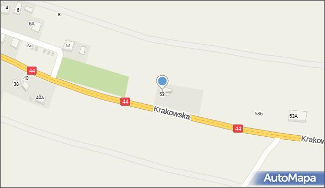 Przeciszów, Krakowska, 53, mapa Przeciszów