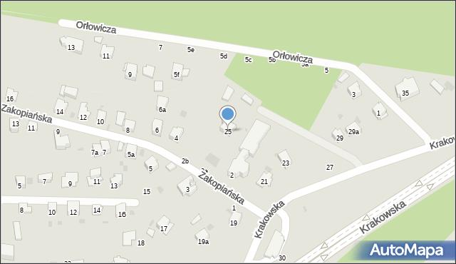 Przemyśl, Krakowska, 25, mapa Przemyśla