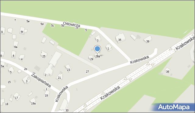 Przemyśl, Krakowska, 29a, mapa Przemyśla