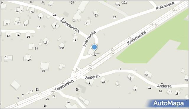 Przemyśl, Krakowska, 30, mapa Przemyśla