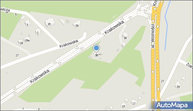Przemyśl, Krakowska, 36, mapa Przemyśla