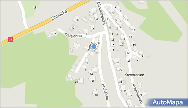 Przemyśl, Kruhelska, 12, mapa Przemyśla
