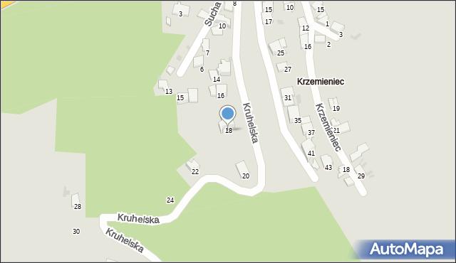 Przemyśl, Kruhelska, 18, mapa Przemyśla