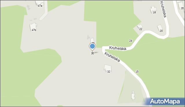 Przemyśl, Kruhelska, 30, mapa Przemyśla