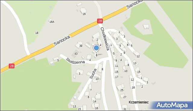 Przemyśl, Kruhelska, 6, mapa Przemyśla