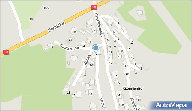 Przemyśl, Kruhelska, 8, mapa Przemyśla