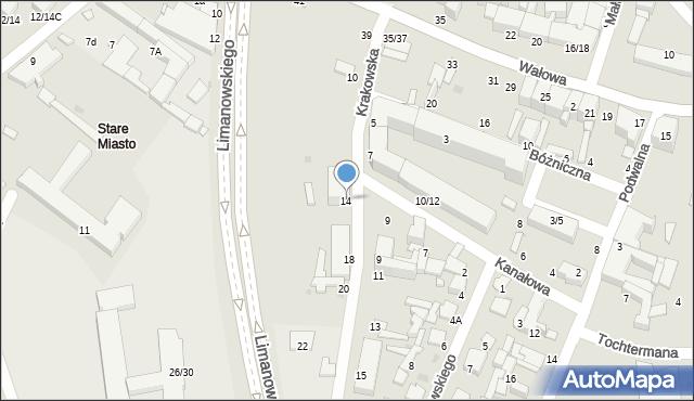 Radom, Krakowska, 14, mapa Radomia