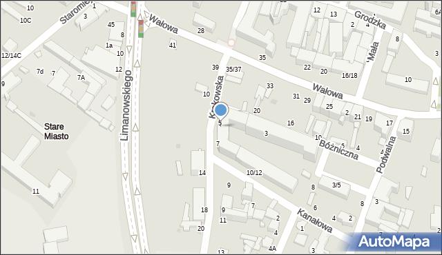 Radom, Krakowska, 5/7, mapa Radomia