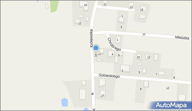 Robakowo, Królewska, 21, mapa Robakowo
