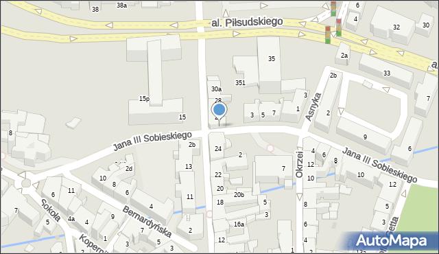 Rzeszów, Króla Jana III Sobieskiego, 1, mapa Rzeszów