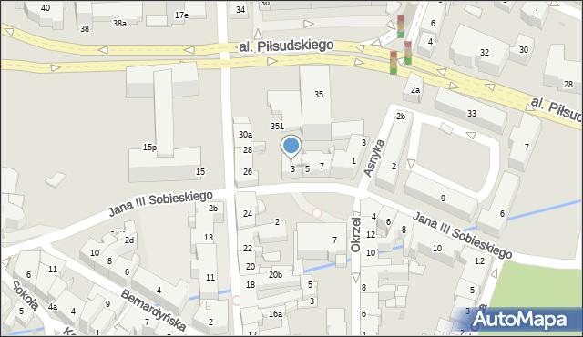 Rzeszów, Króla Jana III Sobieskiego, 3, mapa Rzeszów