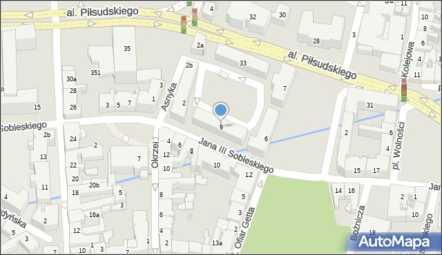 Rzeszów, Króla Jana III Sobieskiego, 9, mapa Rzeszów