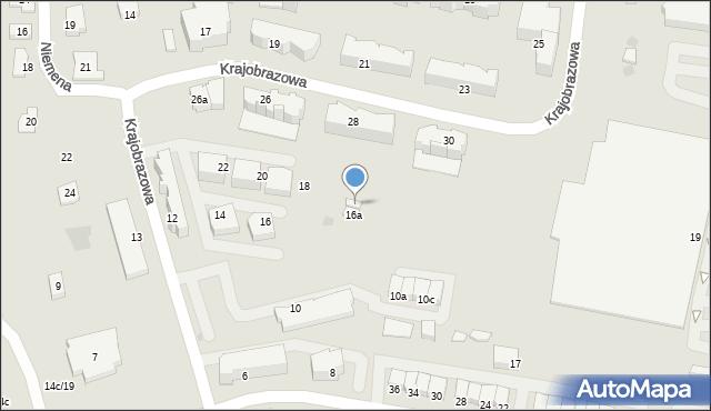 Rzeszów, Krajobrazowa, 16b, mapa Rzeszów