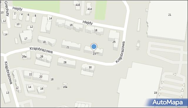 Rzeszów, Krajobrazowa, 23, mapa Rzeszów