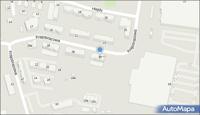 Rzeszów, Krajobrazowa, 30, mapa Rzeszów